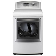 LG - SteamDryer 7.3 Cu. Ft. 14-Cycle Ultra-Large Capacity Steam Gas Dryer - White DLGX5171W