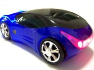 USB KART III Extreme Racing Optical PC mouse - Sports Car Shape - Blue