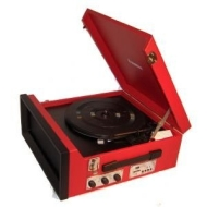 1960's / 1970's Retro Nostalgic Music Centre: Steepletone SRP1R 11 Black Music Centre Record Player / Turntable plays 33 / 45 & 78's + MW / FM Radio -