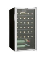 35 Bottle Wine Cooler,Reversible Door,Tempered Glass Door,Worktop