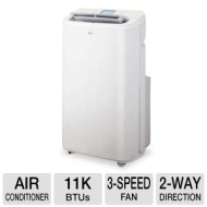 LG 11,000 BTU Portable Air Conditioner with Remote Control - White