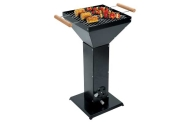 Pedestal Charcoal BBQ with a Gloss Black Finish