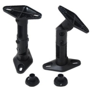 VideoSecu 2 Black Universal Satellite Speaker Mounts / Brackets for Walls and Ceilings 1EH