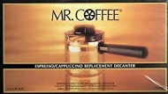 Mr. Coffee Espresso Carafe Assembly w/ Lid, Black 4 Cup