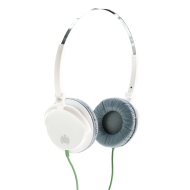 Ministry of Sound 005 Headphones - White/Grey with Green Cable