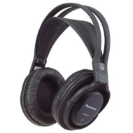 Panasonic RP-WF820EB-K FM Wireless Headphones with 100M Range and Battery Charging Stand