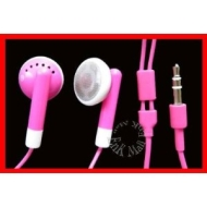 Pink headphone, earphone for ipod mp3 mp4