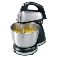 Hamilton Beach - 6-Speed Classic Hand/Stand Mixer - Stainless-Steel/Black 64650