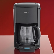 Krups FME2-14 12-Cup Coffeemaker with Glass Carafe, Black