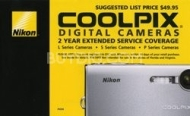 Nikon 2 Year Extended Warranty on Coolpix Digital Cameras