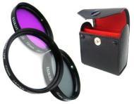 Zeikos ZE-FLK72 72mm Ensemble de filtre en verre - 3 Pièces (UV, Polariseur, Fluorescent) Professionel MULTI-COATED