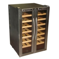 Vinotemp 32 Bottle Wine Cooler. Black cabinet with Stainless Steel door