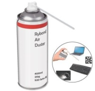 Compressed Air Duster Can HFC Free Gas Flammable 400ml (1 PACK)- AIR DUSTER used as keyboard cleaner, Printer Cleaner, Laptop Cleaner, Xbox 360 & Play