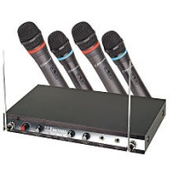 Emerson VHF 4-Channel Wireless Microphones - Black (WM340)