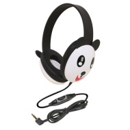 Califone Kids Stereo/PC Headphones Panda Design By Ergoguys