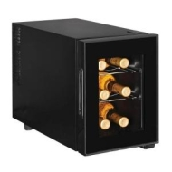 Magic Chef 6-Bottle Wine Cooler, Black