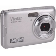 Vivitar Vivicam X029 Camera Silver 10MP Digital Zoom 2.4LCD 720p HD