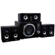 XTune 5.1 Surround Sound Speaker System with Wireless Remote - 125W RMS
