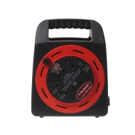 Faithfull CR20MER Easy Reel Cable Reel 20 Metre 10 Amp with 4 Socket (240 Volt)
