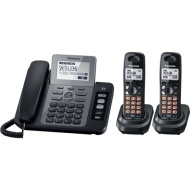 Panasonic Two Line DECT 6.0 Expandable Digital Cordless Answering System - Black