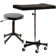 Photogenic TONY Posing Table with Casters and the PG341B Posing Stool