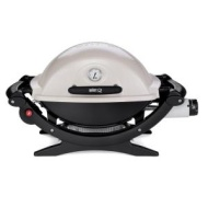 Weber Q 120 Portable 189-Square-Inch 8500-BTU Gas Grill with Electronic Ignition