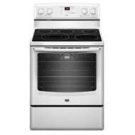 MER8775AW Maytag 6.2 Cu. Ft. Electric Range with Triple Choice and Speed Heat Elements - White