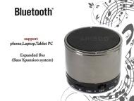 Mini Bluetooth(silber glänzend)) Micro SD TF USB Stereo Speaker Lautsprecher Mp3 Musik Box Player