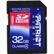 Patriot 32 GB SDHC Class 4 Signature Flash memory card (PSF32GSDHC4)