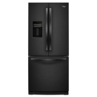 Whirlpool 20 cu. ft. French Door Refrigerator w/ More Usable Capacity - Black