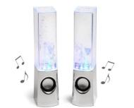 Autek Music Fountain Mini Amplifier Dancing Water Speakers (White)