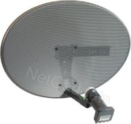 Satgear Sky/Freesat dish kit - New Mk4 Sky Satellite Mini Dish kit with Quad LNB and wall brackets ideal for Sky+ or Freesat self install HD Ready - r