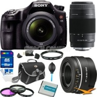 Sony SLTA65VK - a65 Digital SLR Camera Plus 18-55mm, 75-300mm & 50mm f1.8 Lens Bundle