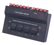Black 4-Way Speaker Selector