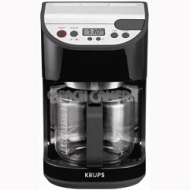 Krups 12-Cup Precision Coffee Maker with Glass Carafe, Black - KM611850