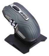 Perixx MX-3200, Dual Mode Wired and Wireless Gaming Laser Mouse - Avago 5000dpi ADNS 9500 Laser Sensor - Charging Dock with Li-ion Battery - Dual Ante