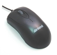 Inland USB Optical Mouse, Black