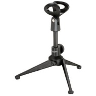 Pyle Desktop Tripod Microphone Stand Adjust Height From 4.7 to 8.7 PMK
