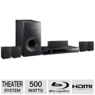 Samsung - 500W 5.1-Ch. Blu-ray Home Theater System HT-E3500ZA