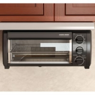 Black & Decker TROS1500B SpaceMaker Traditional Toaster Oven, Black