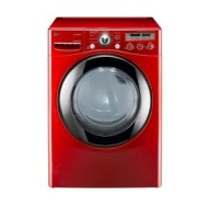 LG - SteamDryer 7.3 Cu. Ft. 9-Cycle Ultra-Large Capacity Steam Electric Dryer - Wild Cherry Red DLEX2650R