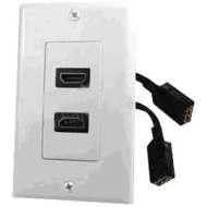 White Hdmi Wallplate With Cable - PHDK9