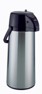 Zojirushi AASB-22SB Premier Air Pot 74-Ounce Beverage Dispenser, Brushed Stainless