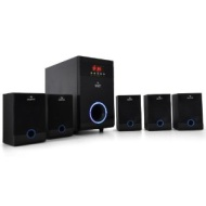 Auna MM-5.1-WI Wireless Surround Sound Speaker System (USB Input, 5.1 Channels & 95W RMS) - Black