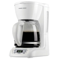 Applica Black &&&& Decker 12-Cup Programmable Coffee Maker - White