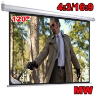 120 inch Electric Motorized HD Projector Screen 4:3 & 16:9 Compatible