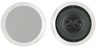 BIC America M-SR6D 150-Watt 2-Way In-Ceiling Speaker with Dual Tweeters, White