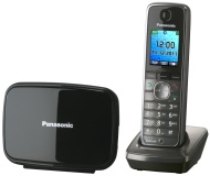 Panasonic KX-TG8611GM DECT Schnurlos Telefon (Bluetooth-Headsetnutzung, Telefonbuchtransfer) graphit-metallic