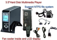 "TeckNet OT105 3.5"" Hard Disk Drive Media Player / Data Storage With LCD Displayer - Black"