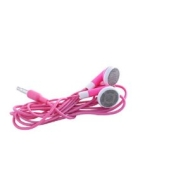 Wired--up iPod Stereo Headphones / Earphones - Pink
